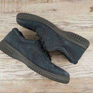 Ecco sz 38 / 7 navy suede walking shoes
